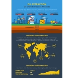 Infographics oil industry vector