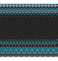 Scandinavian or russian style knitted background vector