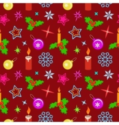Seamless christmas pattern winter theme texture vector