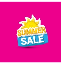 Hot summer sale sticker vector