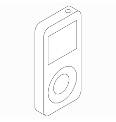Mp3 music player icon isometric 3d style vector