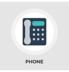 Office phone flat icon vector image