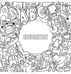 Education objects background drawing by hand vector