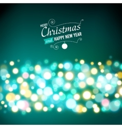 New year lights background vector