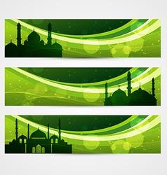 beautiful ramadan headers vector image