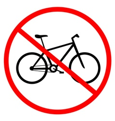 Bikes prohibited vector