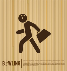 Bowler bowling alley vector