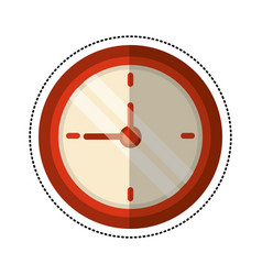 cartoon clock time school vector image vector image