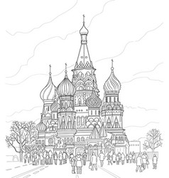 cathedral of vasily the blessed vector image