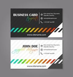 Corporate business card template Creative card for vector image