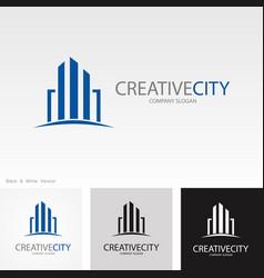 creative city logo vector image vector image