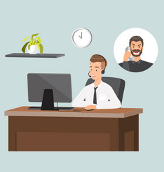 customer service representative flat vector image