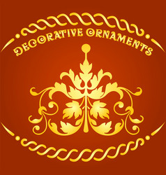 decorative floral elements and ornaments vector image