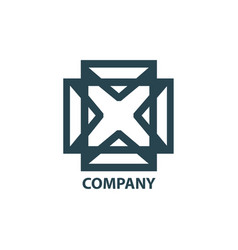 design geometric logo for company vector image