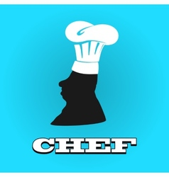 Flat silhouette chef hat icon vector