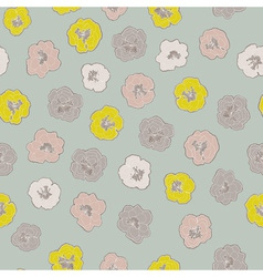 floral pattern with colorful blooming flowers on vector image vector image
