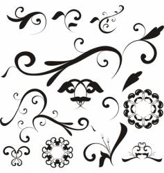 floral shapes and ornaments vector image vector image