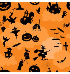 Halloween seamless patterns Holiday design vector image vector image