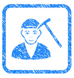 Hammer victim framed stamp vector
