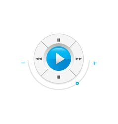 Music player control interface vector image
