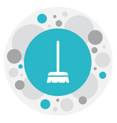 of cleanup symbol on brush vector image vector image
