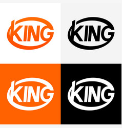 Round modern logo of king vector