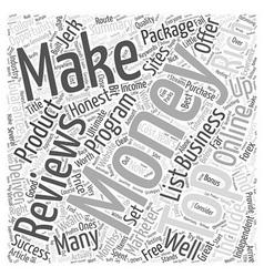 Top money making business reviews word cloud vector