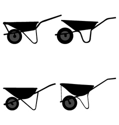wheelbarrow vector image vector image