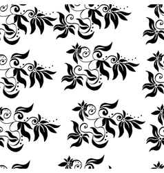 Floral seamless pattern with swirls isolated vector image