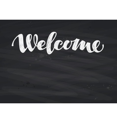 Welcome inscription calligraphy hand drawn vector