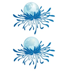 earth and chrysanthemum vector image
