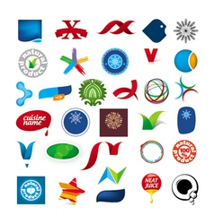 Collection of abstract symbols vector