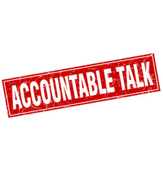 Accountable talk square stamp vector