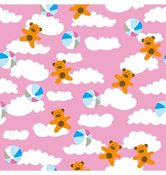 Kids pattern with cloud vector image