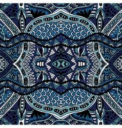 Blue Oriental Ethnic Seamless pattern design vector image