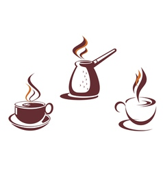 Coffee symbols vector