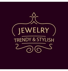 Logo for jewelry salon luxury and elegance vector