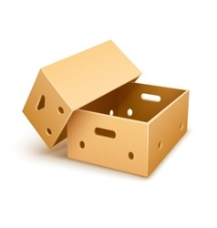 Empty cardboard box tare for vector