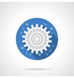 Influenza icon blue round flat icon vector