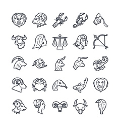 Zodiac signs icons 1 vector