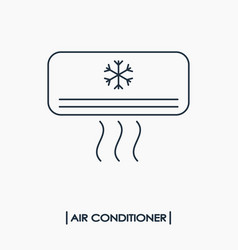 air conditioner outline icon vector image vector image