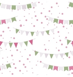 Bunting party flags garland seamless vector image vector image