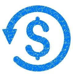 Chargeback grainy texture icon vector