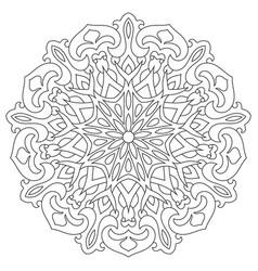 circular geometric ornament round outline mandala vector image vector image