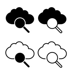 Cloud with magnifier icon vector image vector image