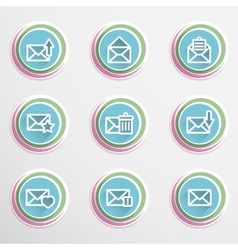 Envelope buttons vector image vector image