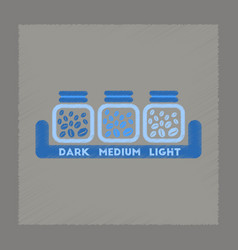 flat shading style icon jar of coffee beans vector image