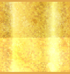 gold triangles seamless texture vector image vector image