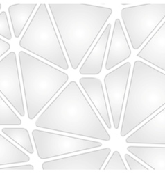 Grey tech background with geometric shapes vector image
