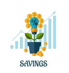 Growing money flat concept vector image